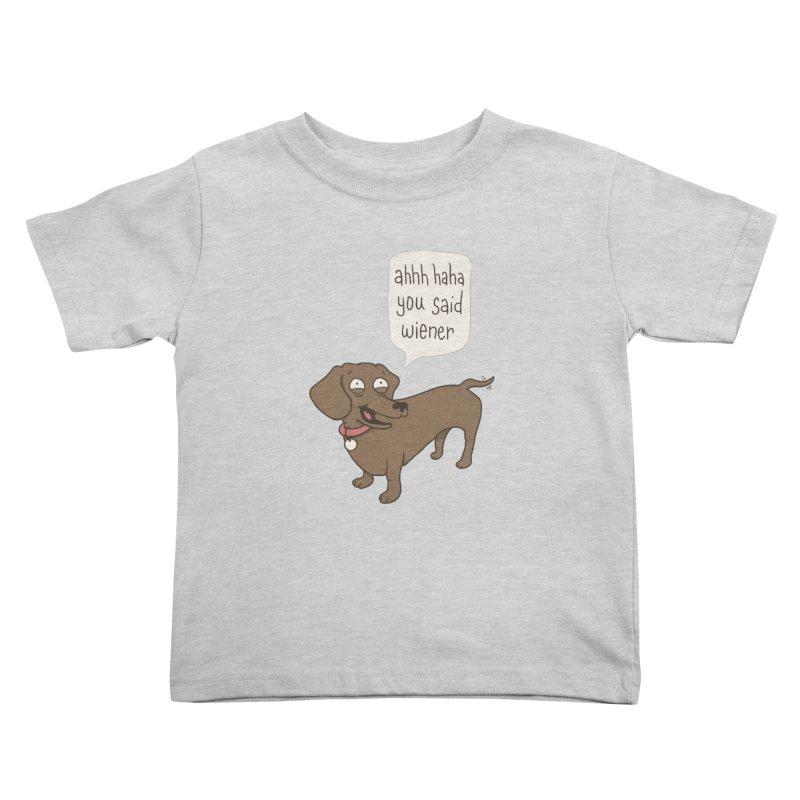 Immature Dachshund Kids Toddler T-Shirt by Phildesignart