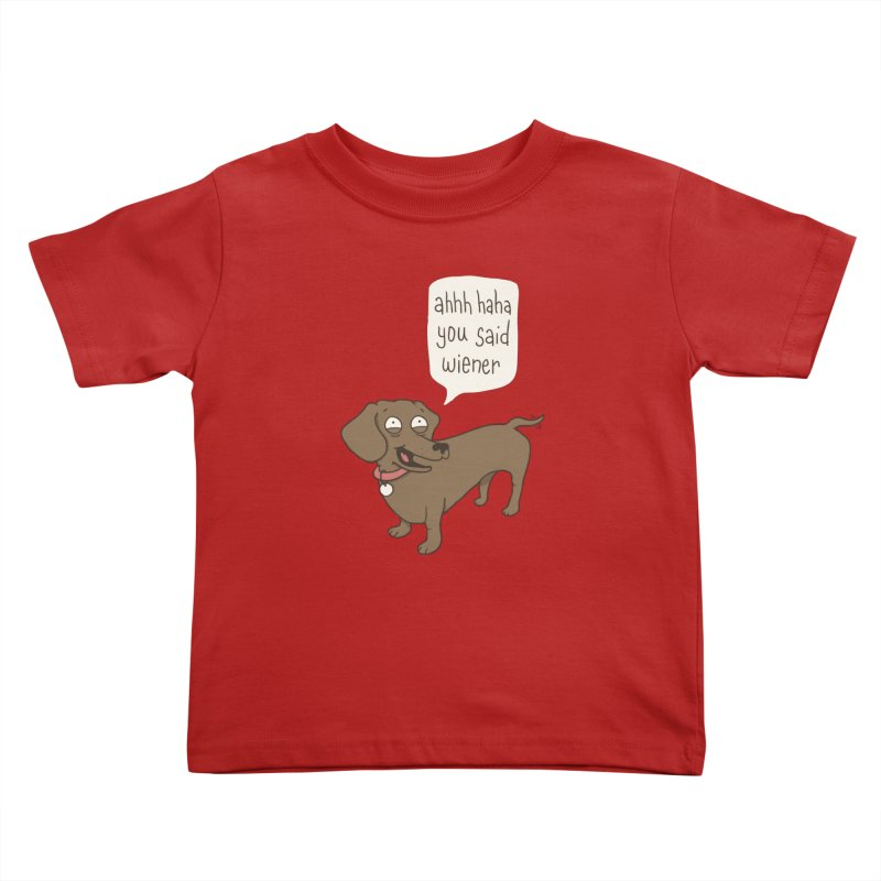Immature Dachshund Kids Toddler T-Shirt by phildesignart's Artist Shop