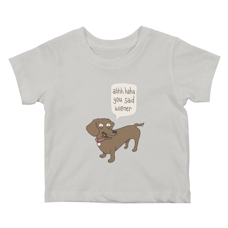 Immature Dachshund Kids Baby T-Shirt by Phildesignart