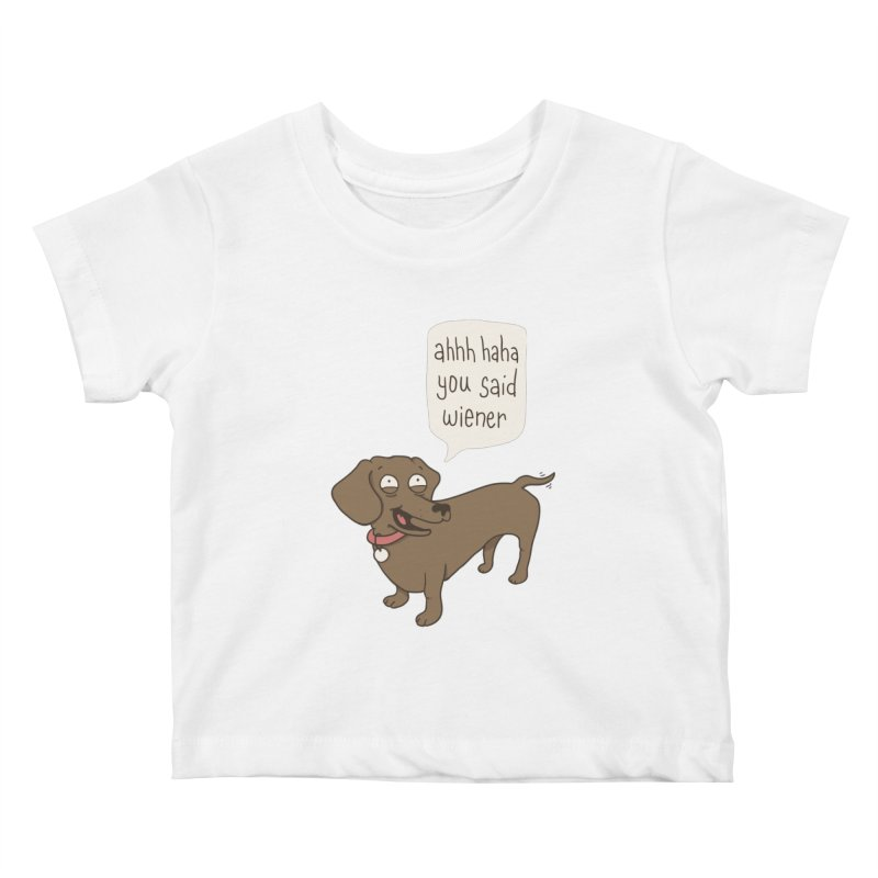 Immature Dachshund Kids Baby T-Shirt by Phildesignart
