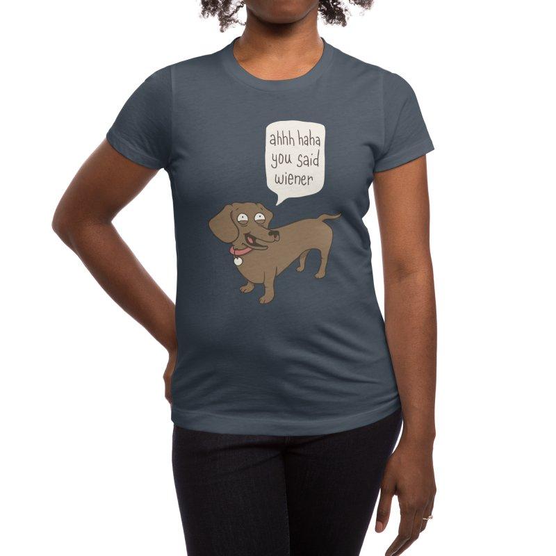 Immature Dachshund Women's T-Shirt by Phildesignart