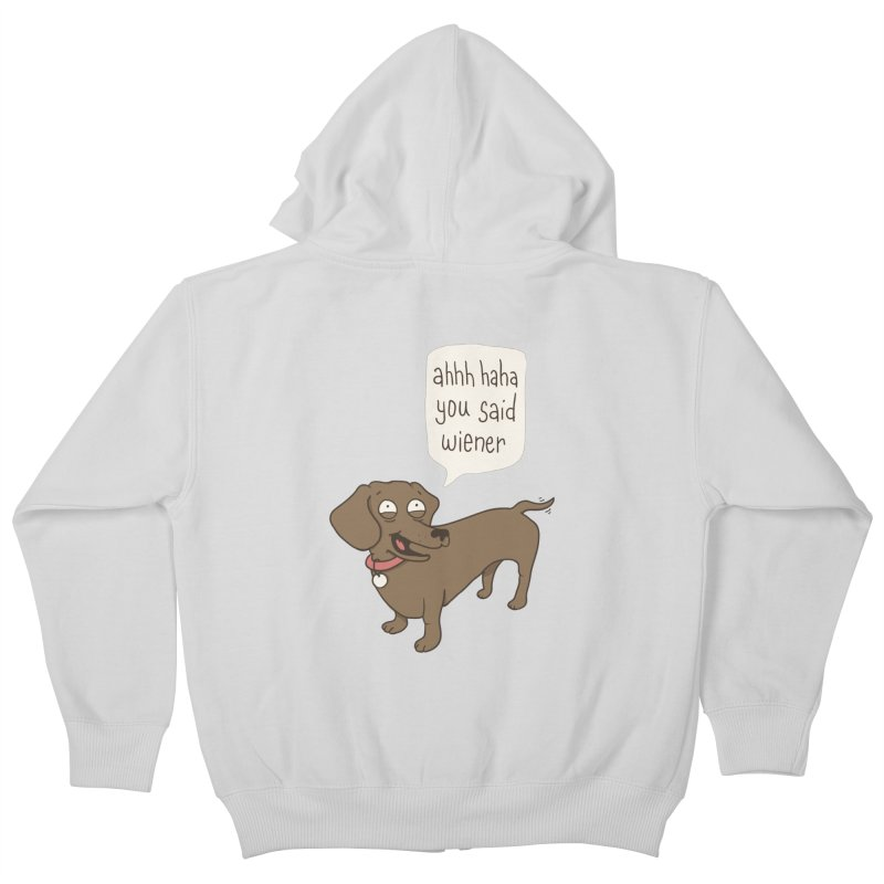 Immature Dachshund Kids Zip-Up Hoody by Phildesignart