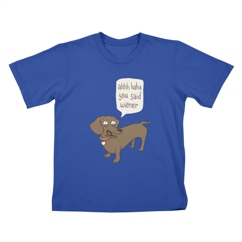 Immature Dachshund Kids T-shirt by phildesignart's Artist Shop