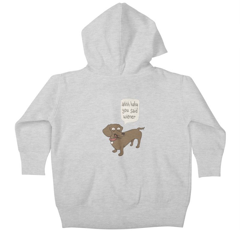 Immature Dachshund Kids Baby Zip-Up Hoody by Phildesignart
