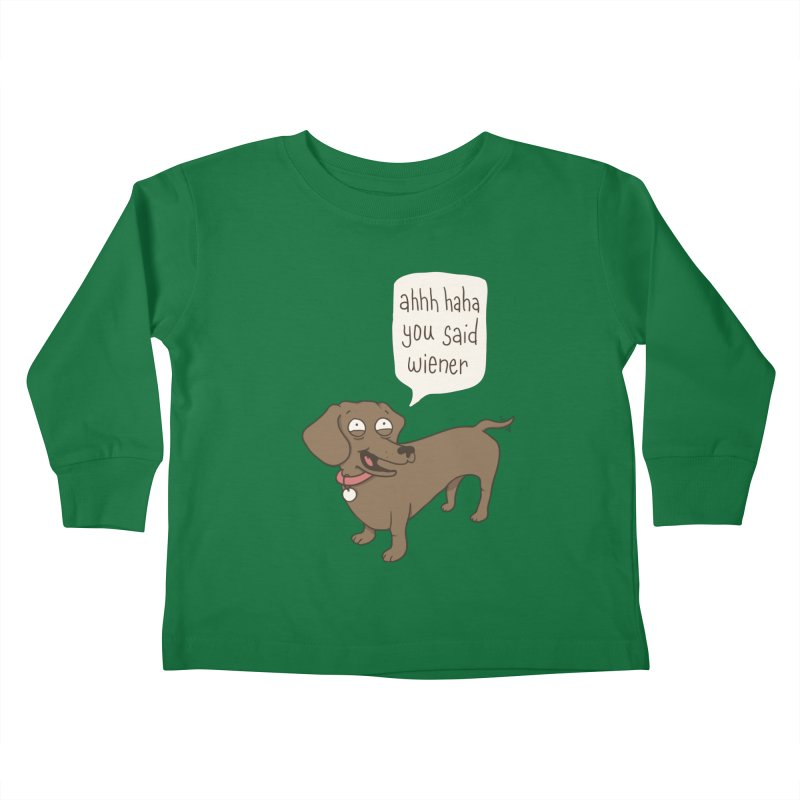 Immature Dachshund Kids Toddler Longsleeve T-Shirt by Phildesignart