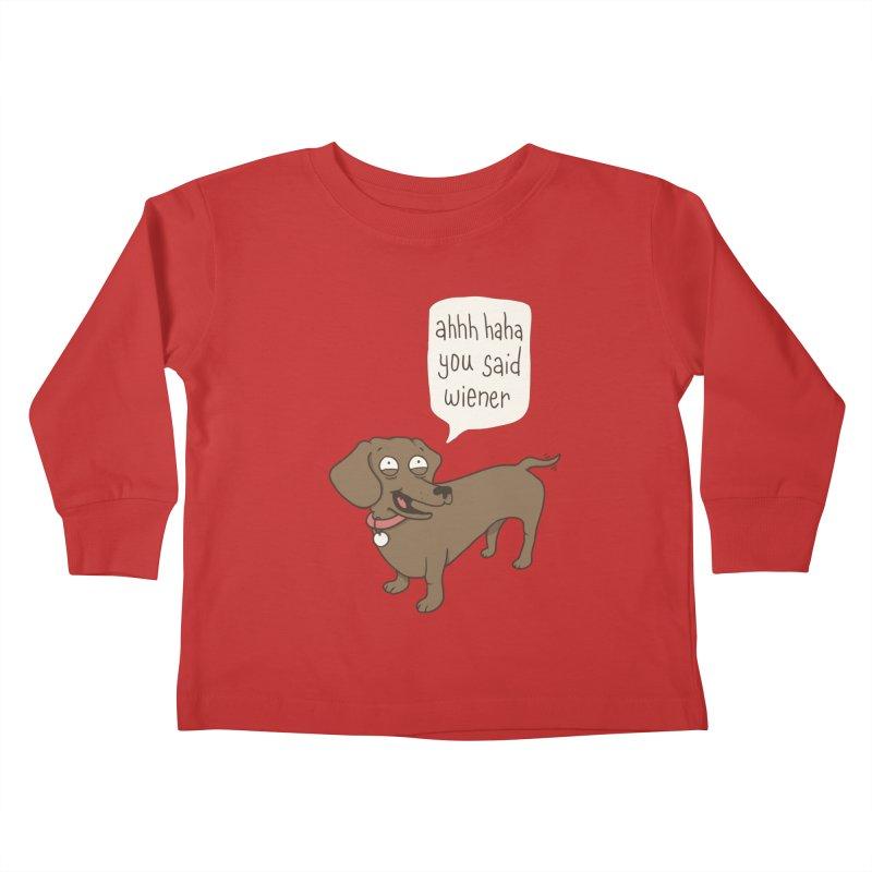 Immature Dachshund Kids Toddler Longsleeve T-Shirt by phildesignart's Artist Shop