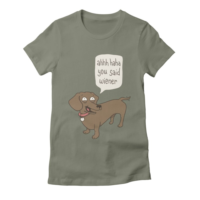 Immature Dachshund Women's Fitted T-Shirt by Phildesignart