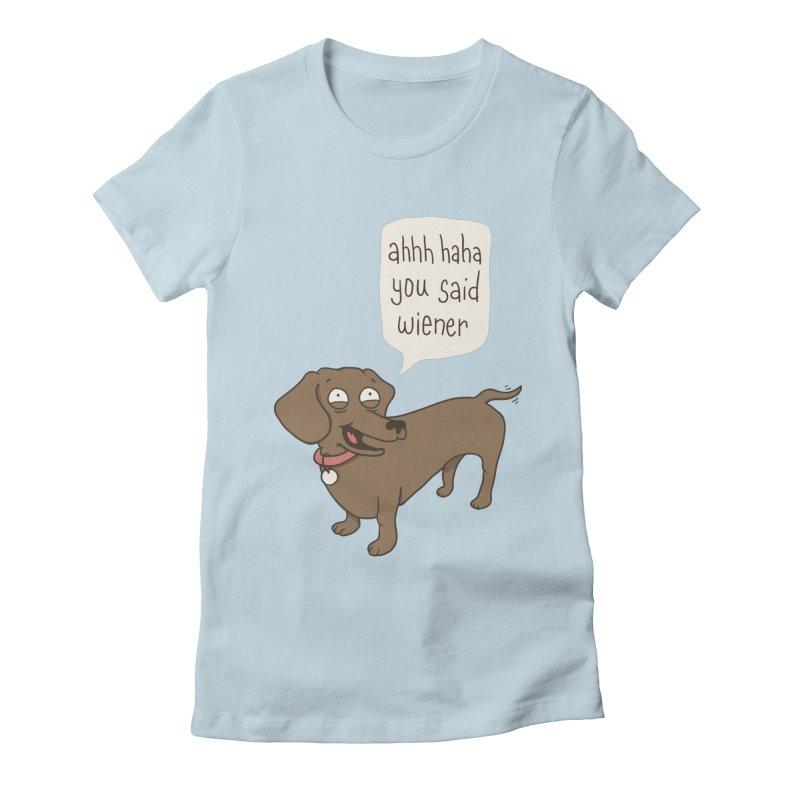 Immature Dachshund Women's Fitted T-Shirt by phildesignart's Artist Shop