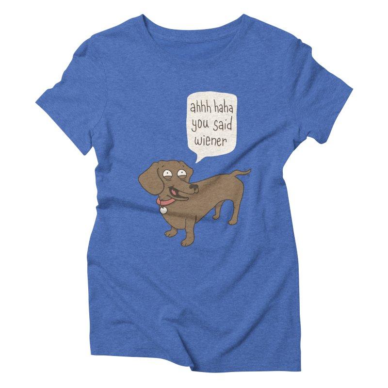Immature Dachshund Women's Triblend T-Shirt by Phildesignart