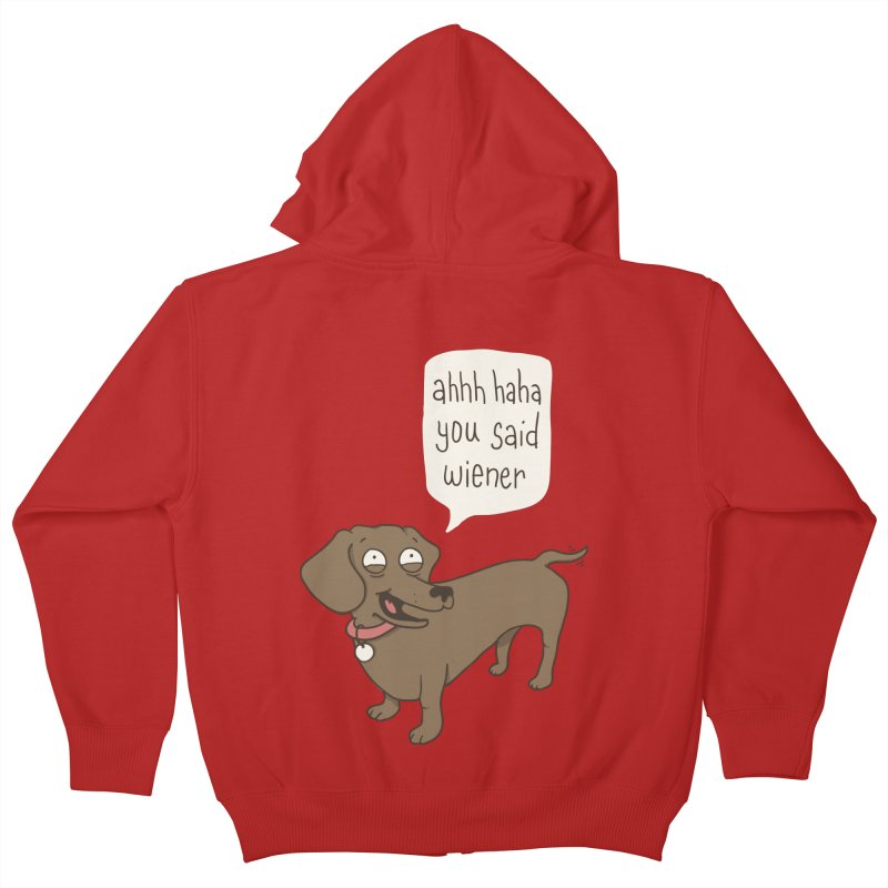 Immature Dachshund Kids Zip-Up Hoody by phildesignart's Artist Shop