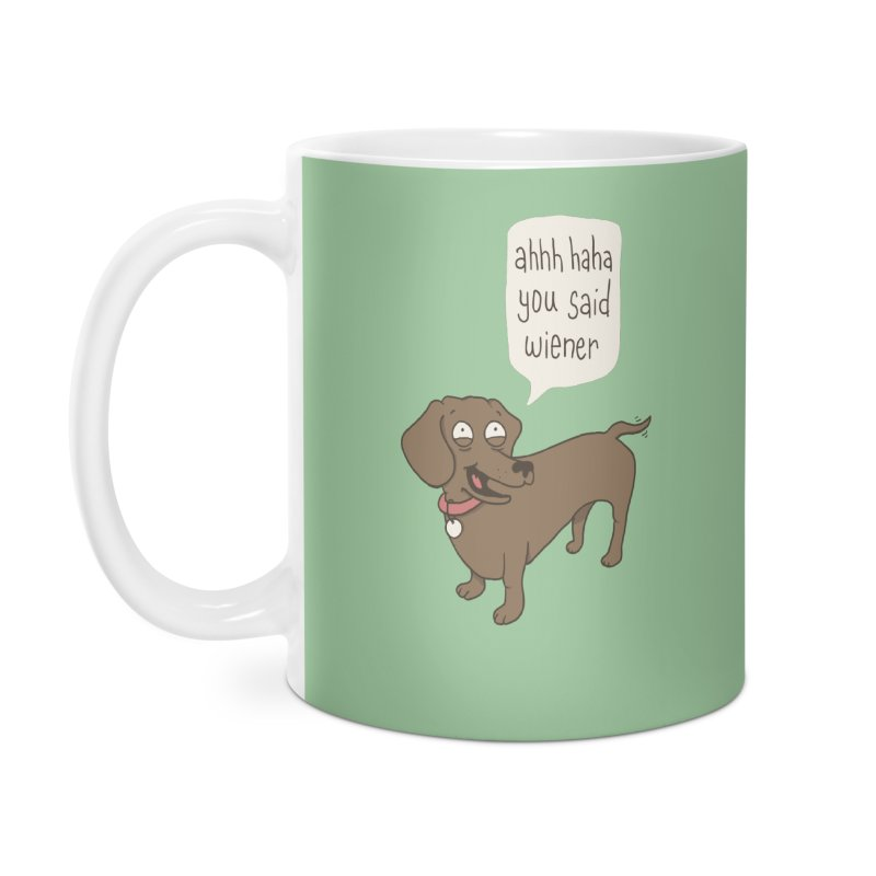Immature Dachshund Accessories Mug by phildesignart's Artist Shop