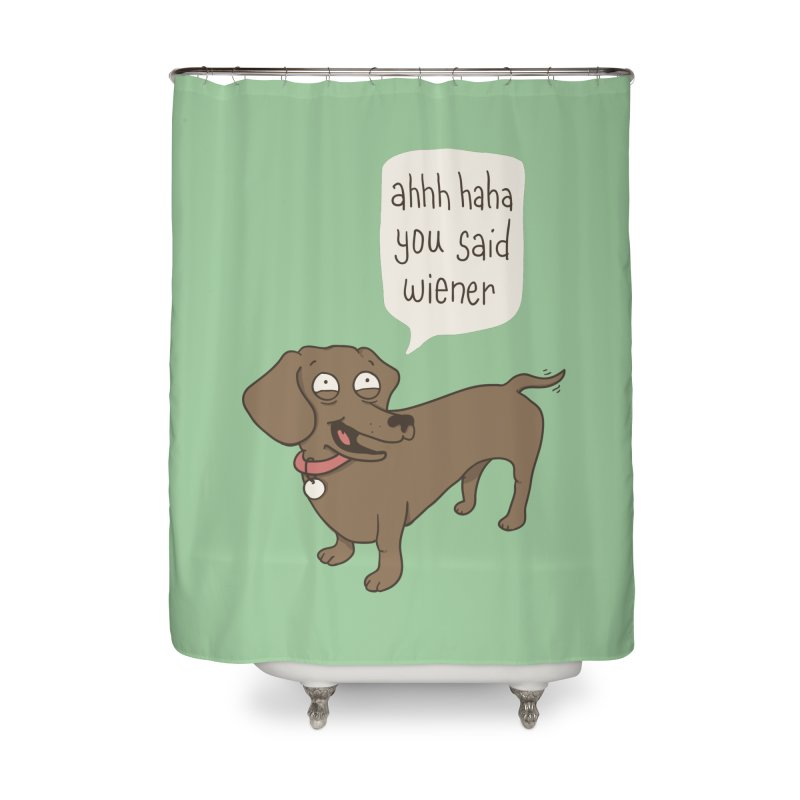 Immature Dachshund Home Shower Curtain by phildesignart's Artist Shop