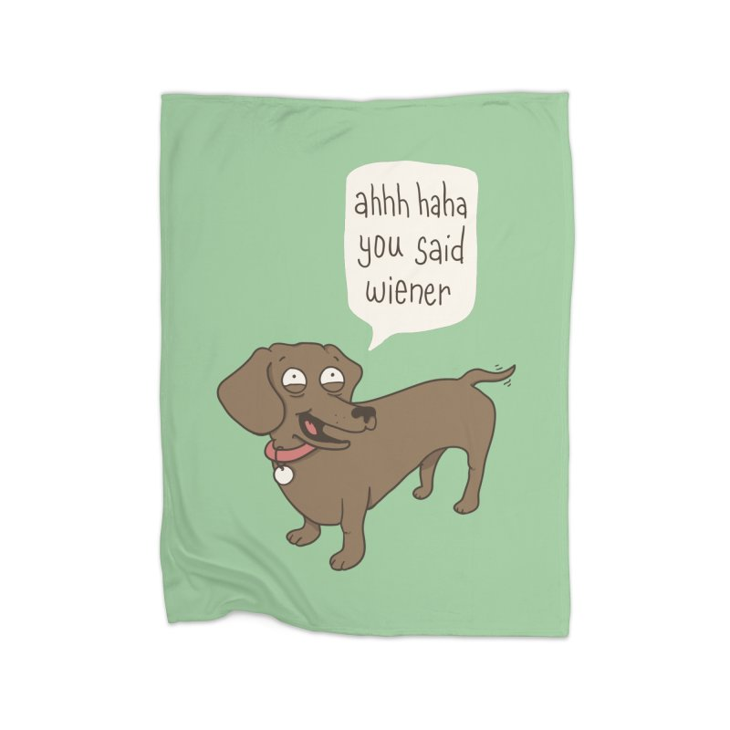 Immature Dachshund Home Blanket by phildesignart's Artist Shop