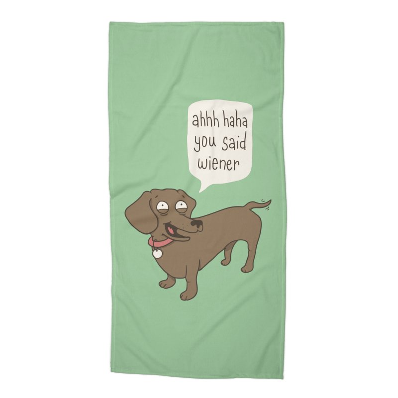 Immature Dachshund Accessories Beach Towel by Phildesignart