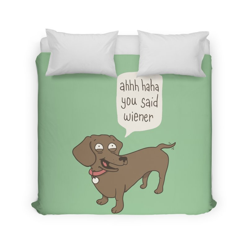 Immature Dachshund Home Duvet by Phildesignart