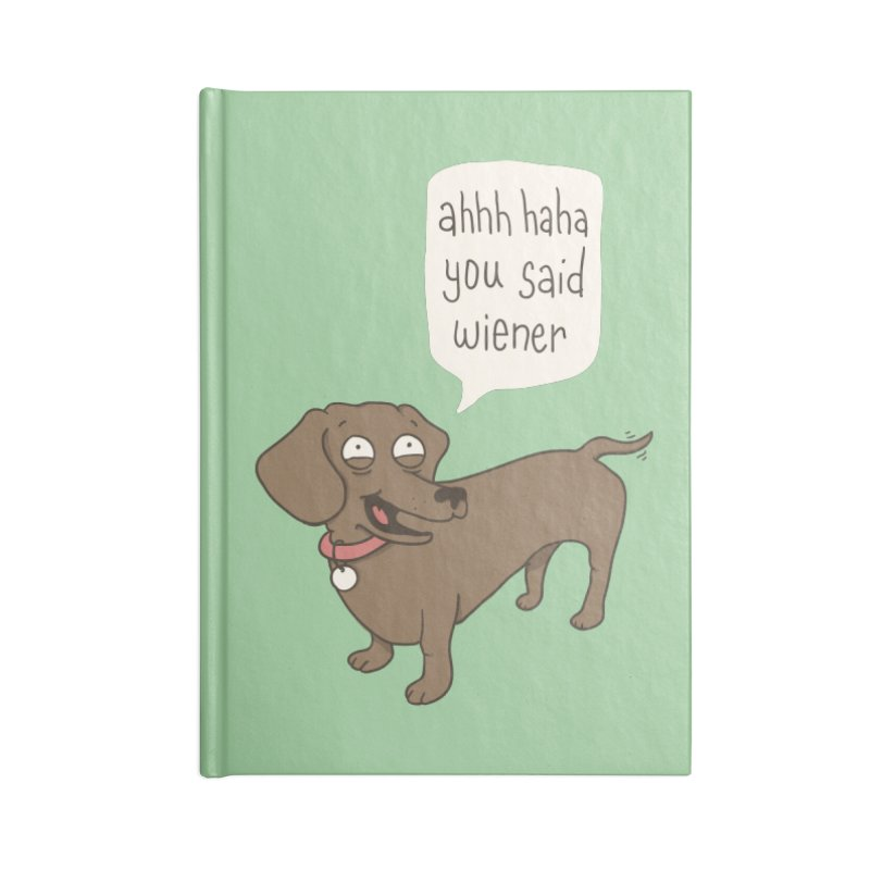 Immature Dachshund Accessories Notebook by Phildesignart