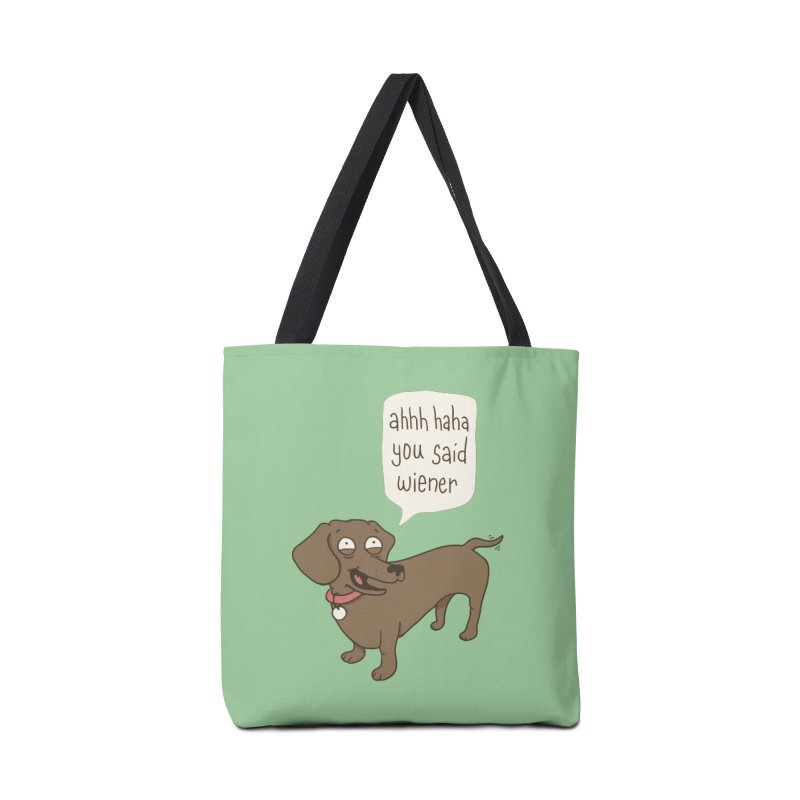 Immature Dachshund Accessories Bag by Phildesignart