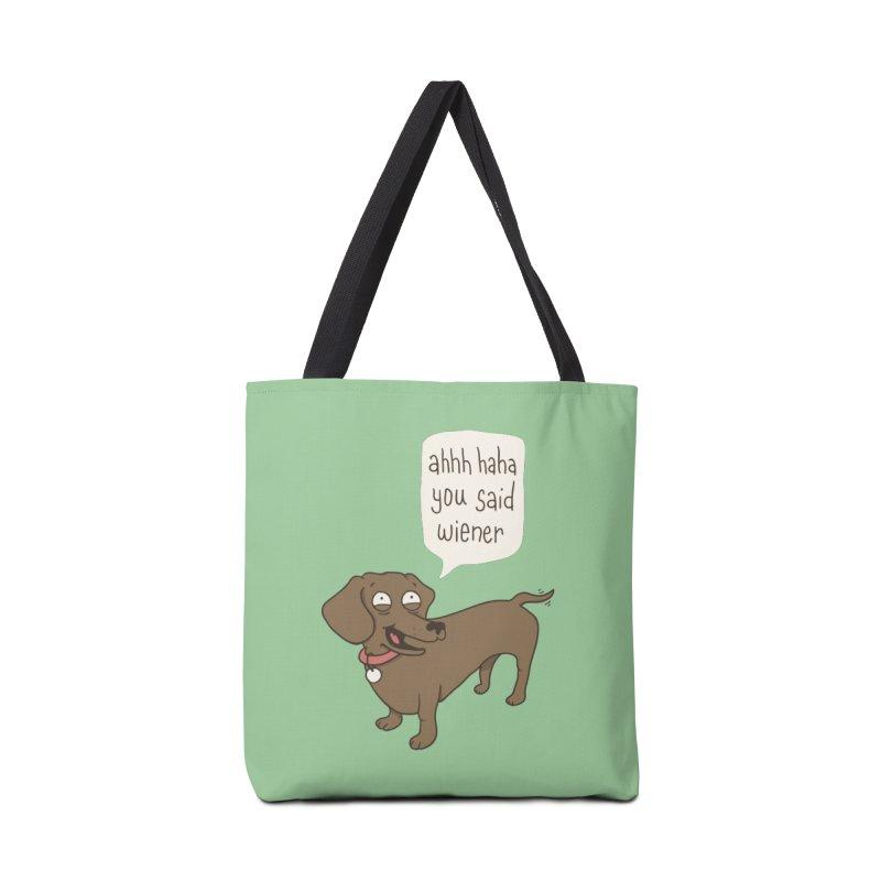Immature Dachshund Accessories Bag by Phildesignart