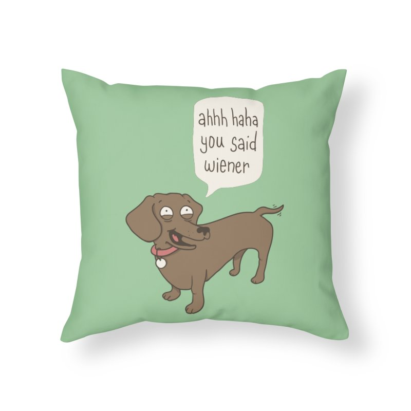 Immature Dachshund Home Throw Pillow by Phildesignart