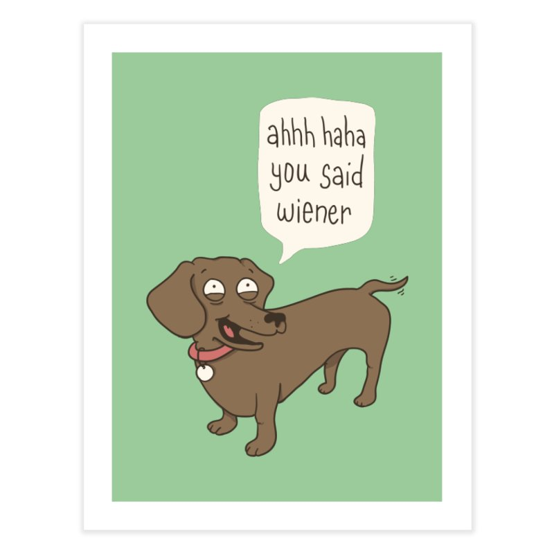 Immature Dachshund Home Fine Art Print by Phildesignart