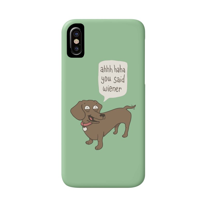 Immature Dachshund Accessories Phone Case by Phildesignart