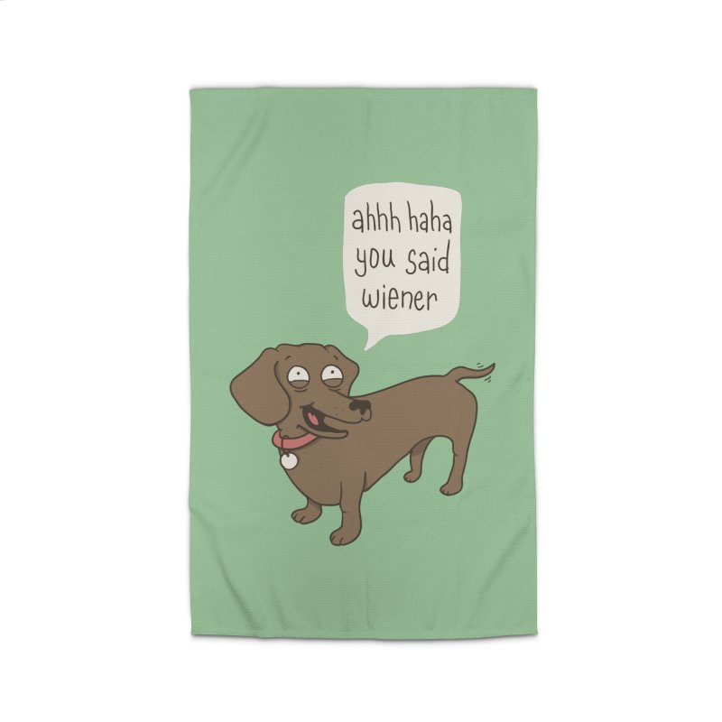Immature Dachshund Home Rug by Phildesignart