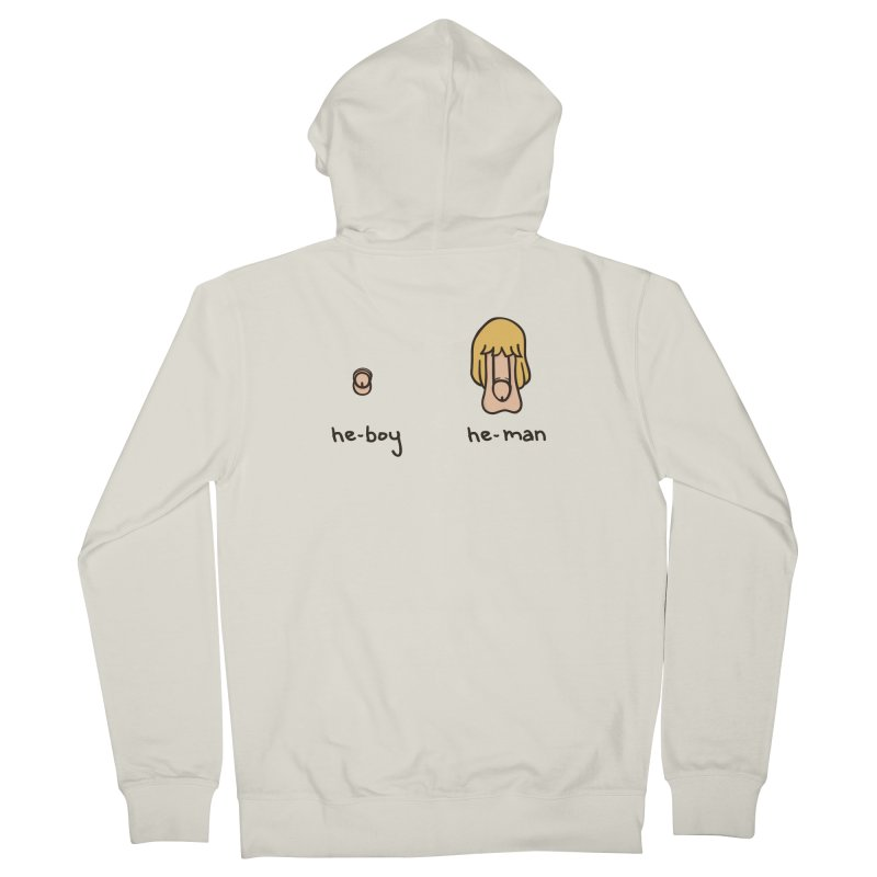 Becoming A He-Man Men's French Terry Zip-Up Hoody by Phildesignart