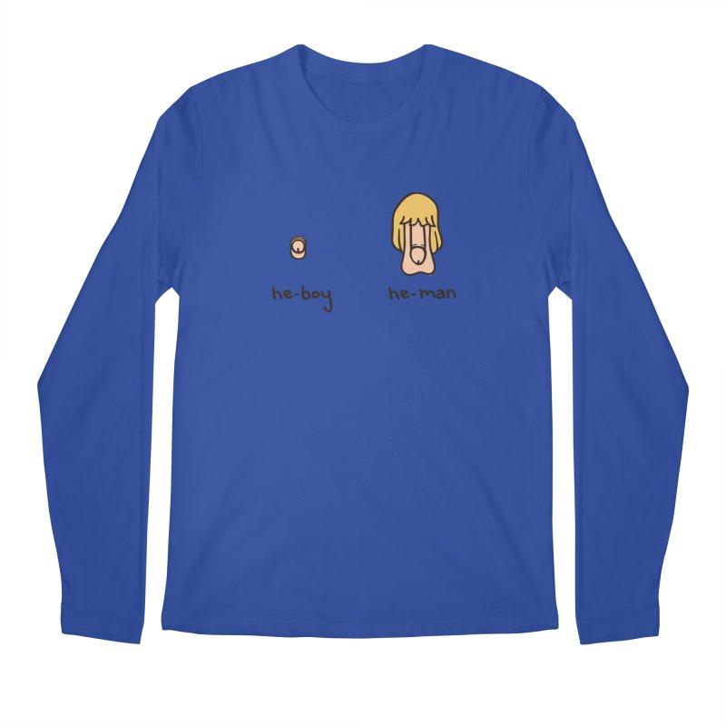 Becoming A He-Man Men's Regular Longsleeve T-Shirt by Phildesignart