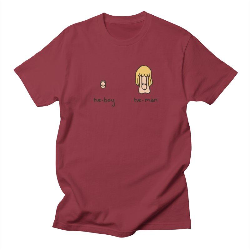 Becoming A He-Man Men's T-Shirt by Phildesignart