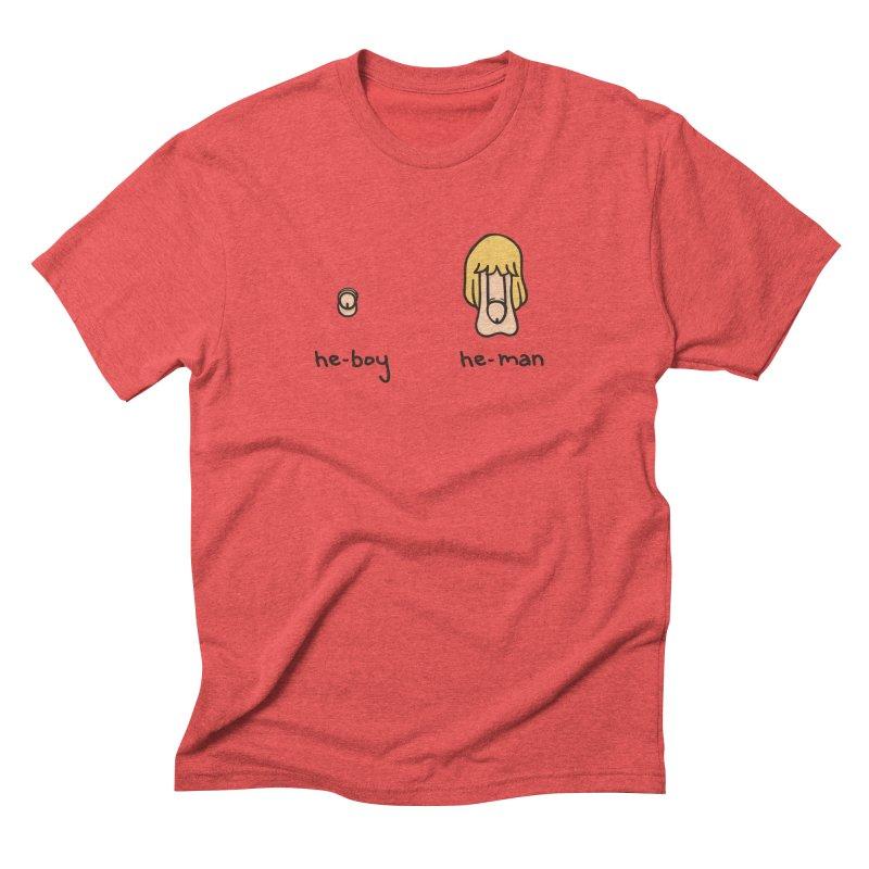 Becoming A He-Man Men's Triblend T-Shirt by Phildesignart