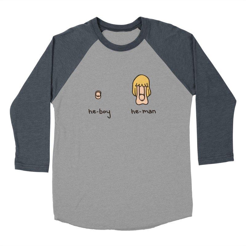 Becoming A He-Man Men's Baseball Triblend T-Shirt by Phildesignart