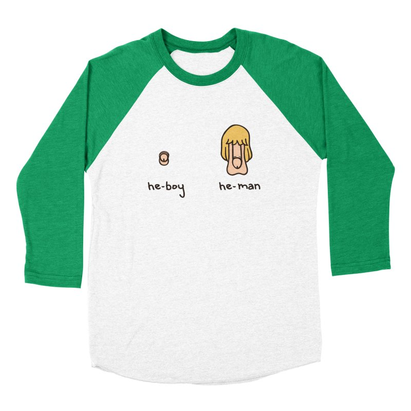 Becoming A He-Man Men's Baseball Triblend T-Shirt by phildesignart's Artist Shop