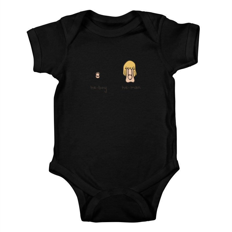 Becoming A He-Man Kids Baby Bodysuit by Phildesignart
