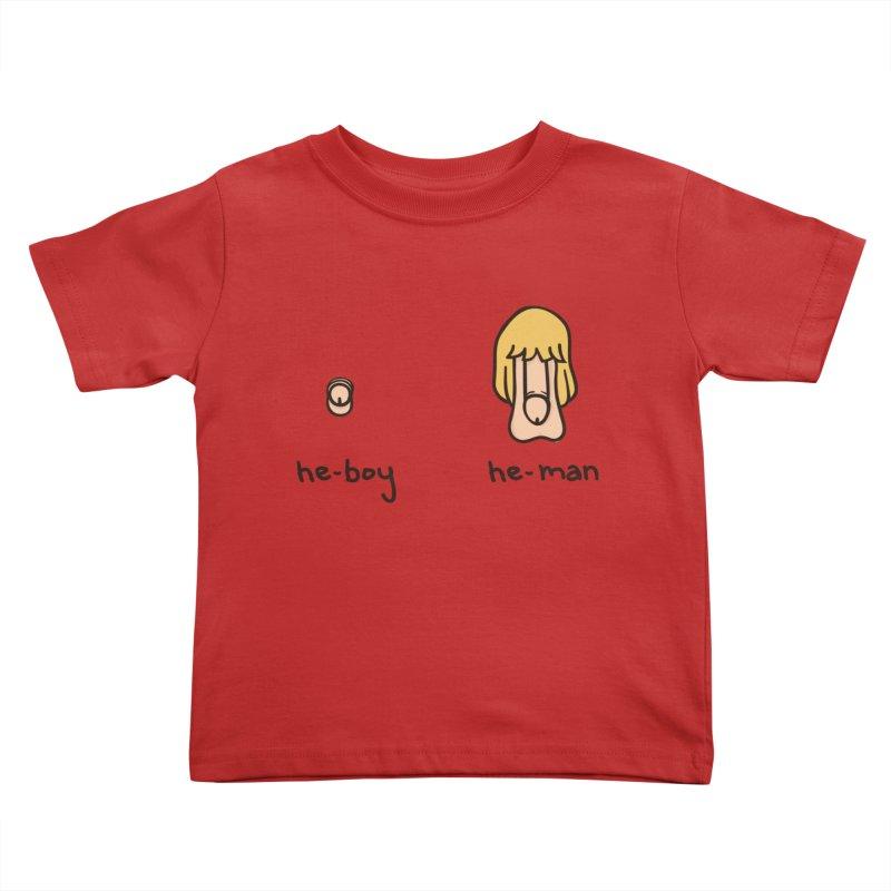 Becoming A He-Man Kids Toddler T-Shirt by Phildesignart