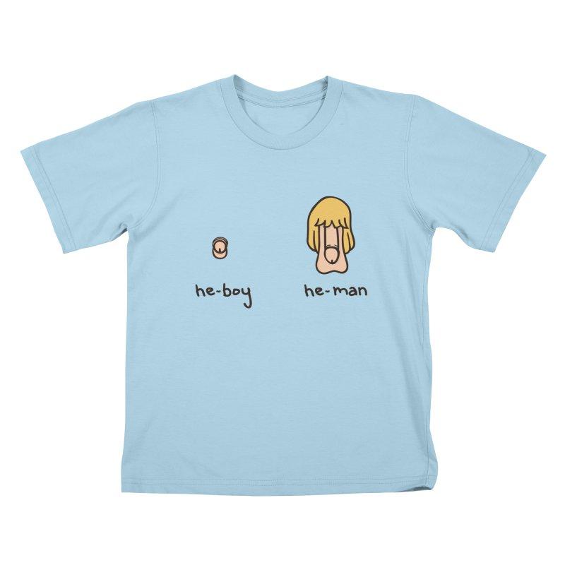 Becoming A He-Man Kids T-Shirt by Phildesignart