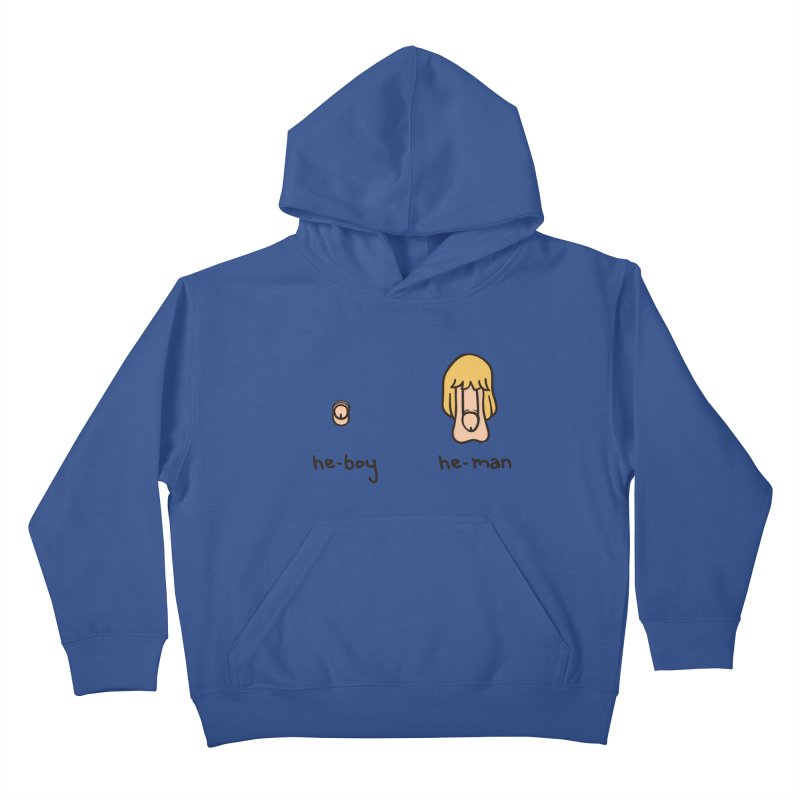 Becoming A He-Man Kids Pullover Hoody by Phildesignart