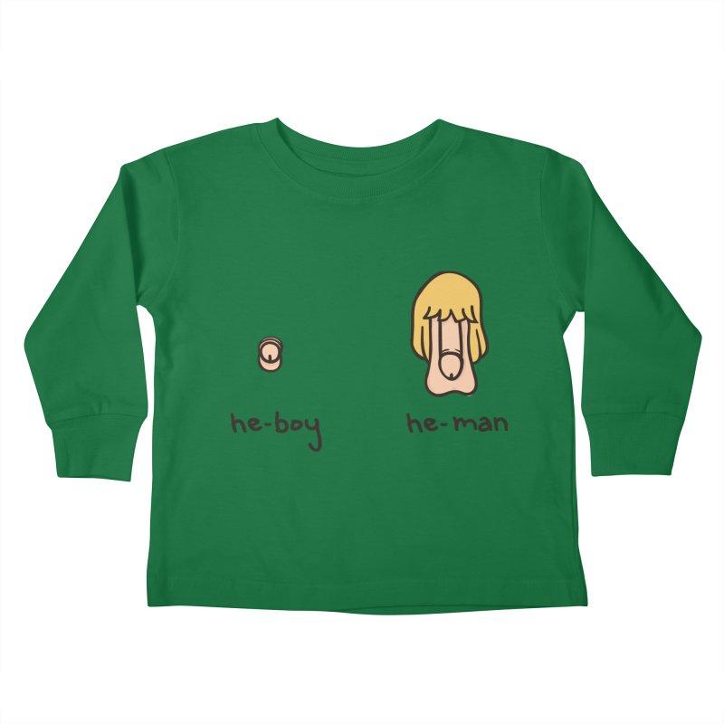 Becoming A He-Man Kids Toddler Longsleeve T-Shirt by phildesignart's Artist Shop