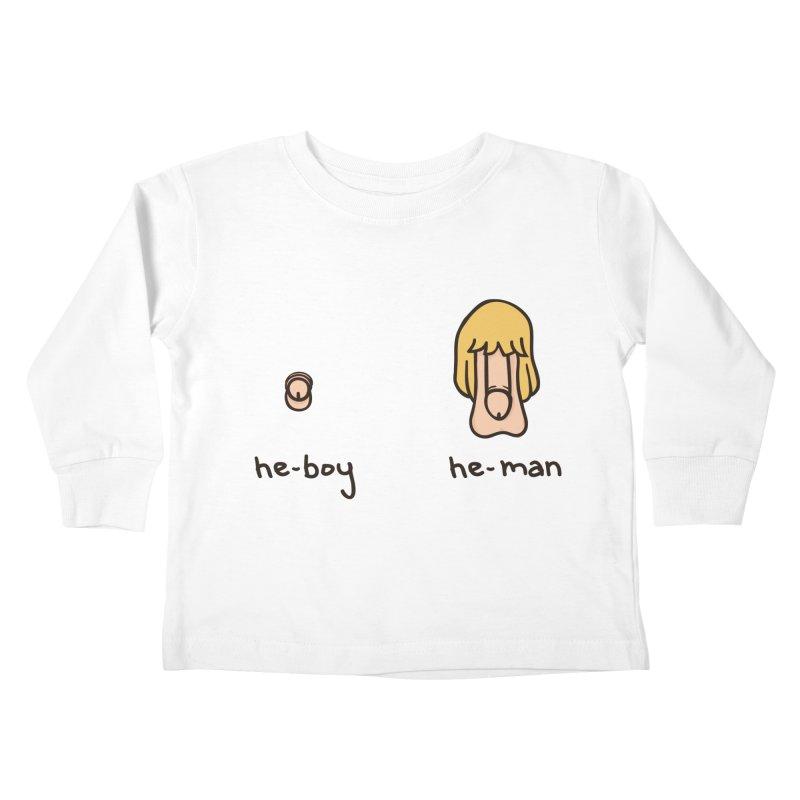 Becoming A He-Man Kids Toddler Longsleeve T-Shirt by Phildesignart