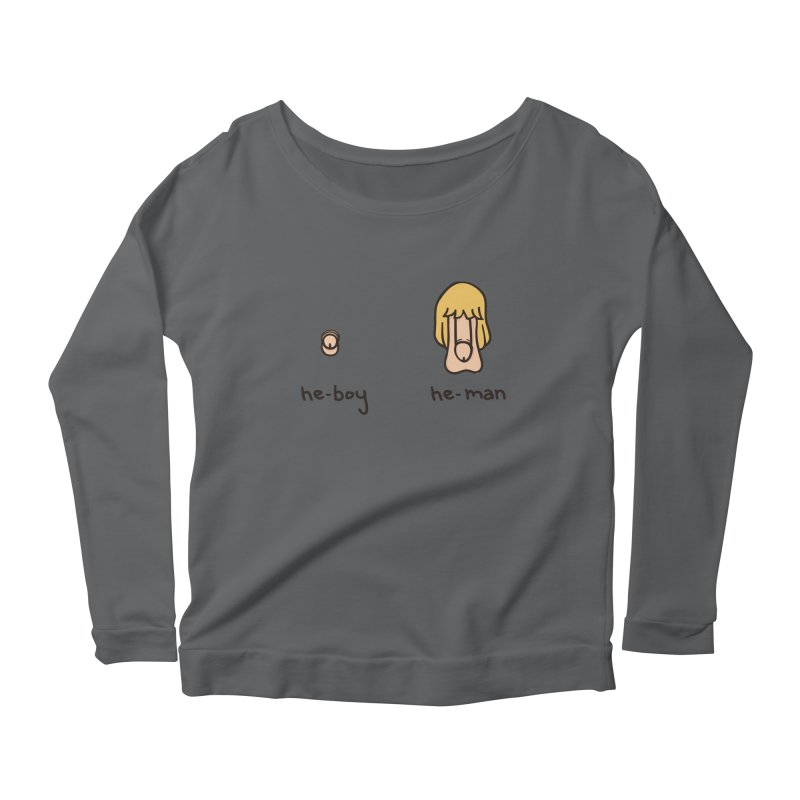 Becoming A He-Man Women's Longsleeve Scoopneck  by Phildesignart