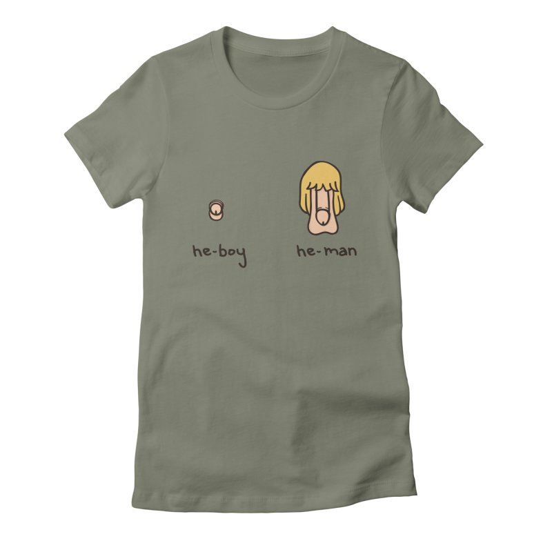Becoming A He-Man Women's Fitted T-Shirt by Phildesignart