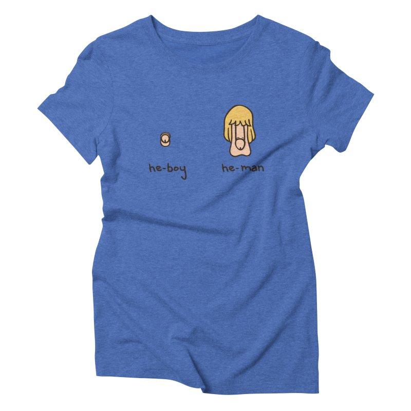 Becoming A He-Man Women's Triblend T-shirt by phildesignart's Artist Shop