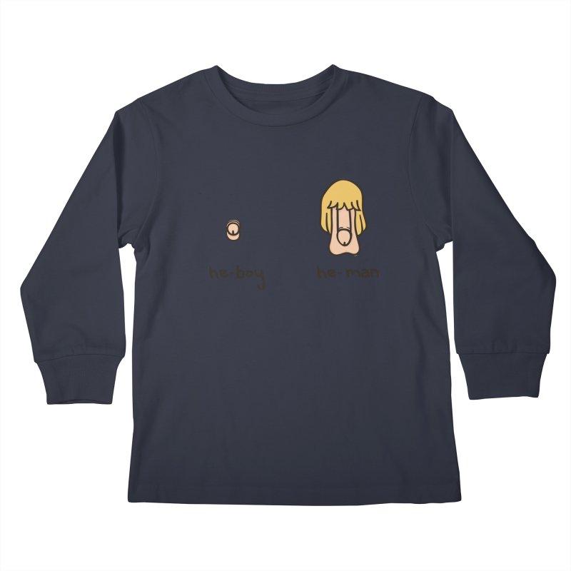 Becoming A He-Man Kids Longsleeve T-Shirt by Phildesignart