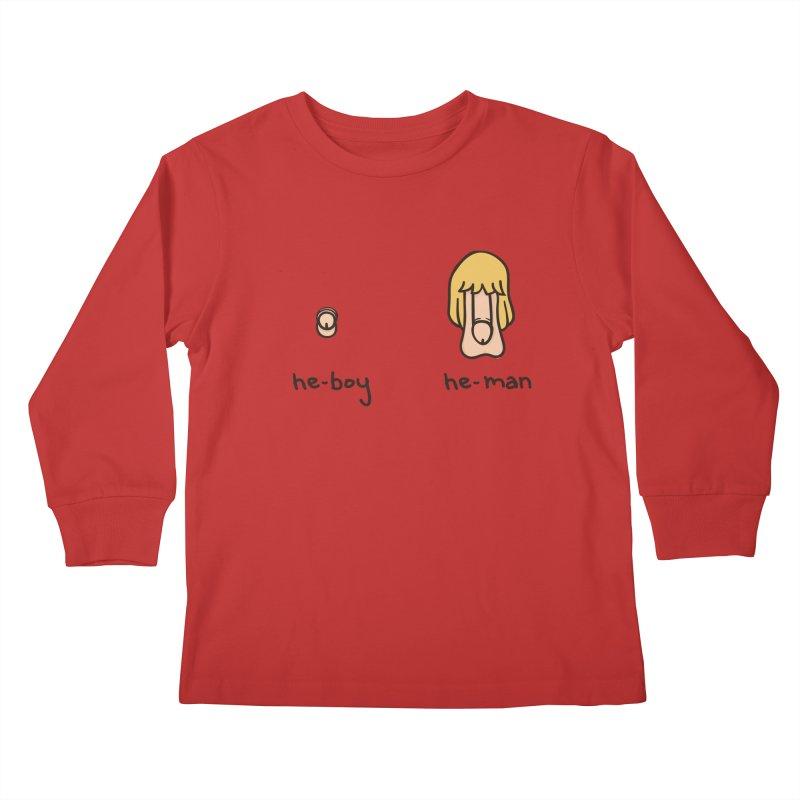 Becoming A He-Man Kids Longsleeve T-Shirt by phildesignart's Artist Shop