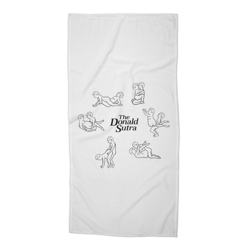 The Donald Sutra Accessories Beach Towel by Phildesignart