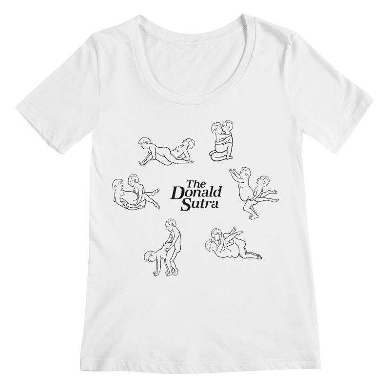 The Donald Sutra Women's Regular Scoop Neck by Phildesignart