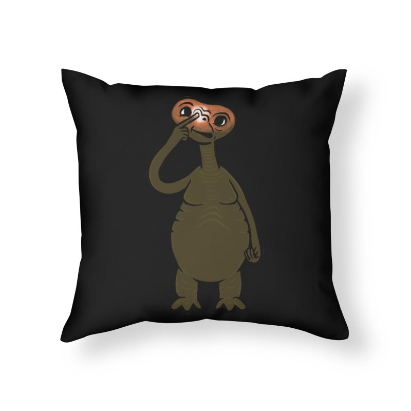 Extraterrestrial Nose Pick Home Throw Pillow by Phildesignart