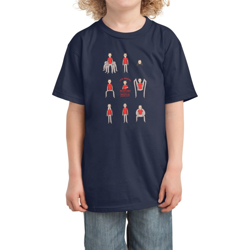 Less Amazing Mutations from a Radioactive Spider Bite Kids T-Shirt by Phildesignart