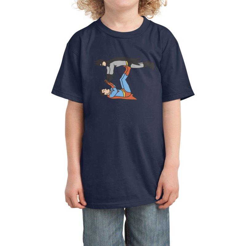 Supermaaaaannnnnnn! Kids T-Shirt by Phildesignart