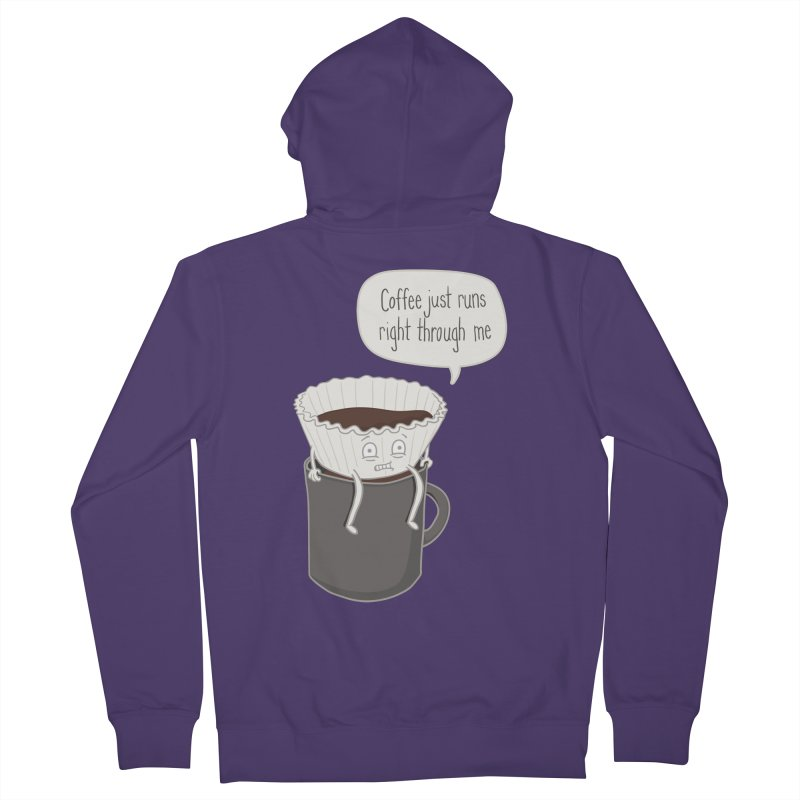 Coffee Runs Women's French Terry Zip-Up Hoody by Phildesignart
