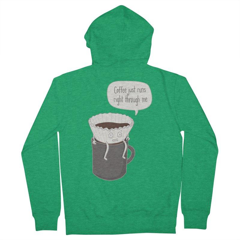 Coffee Runs Men's French Terry Zip-Up Hoody by Phildesignart